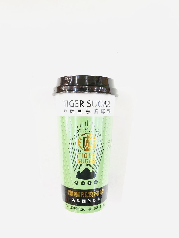 GROC【杂货】老虎堂黑糖专壳 黑糖桃胶抹茶 123g