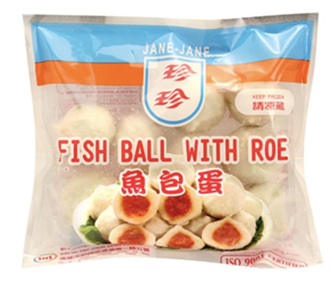 珍珍 鱼包蛋 ~226.8g(8oz) JANE-JANE FISH BALL WITH ROE 226.8g(8oz)