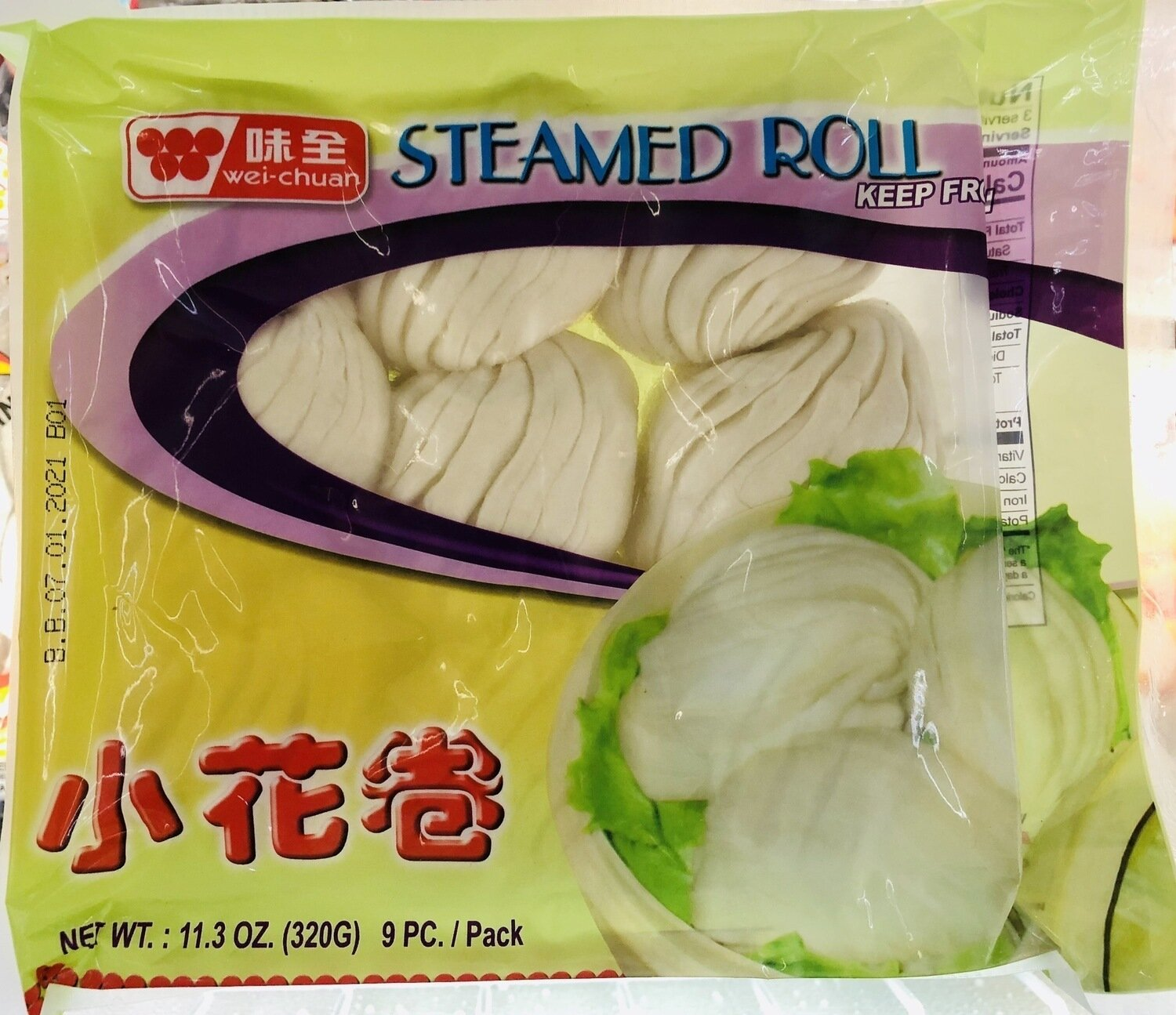 味全小花卷  wei-chuan STEAMED ROLL​~11.3OZ.(320G) 9PC/PACK​