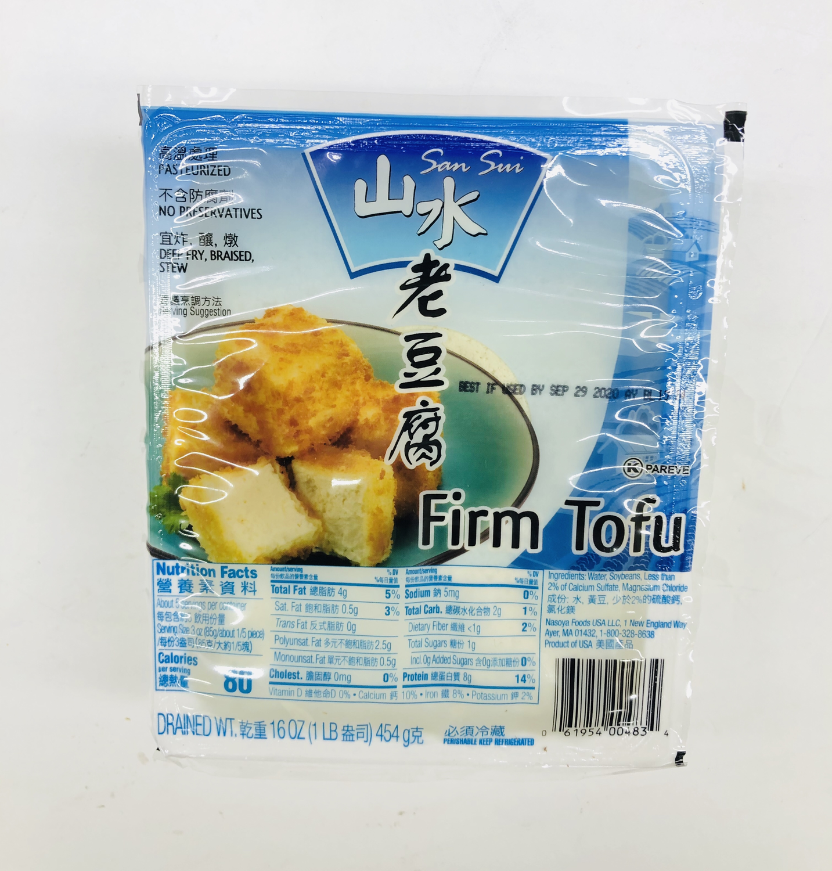 山水 老豆腐 San Sui Firm Tofu 16oz 454g