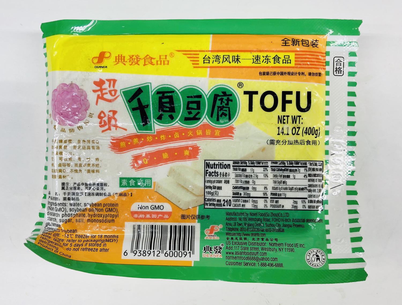 典发食品 超级千页豆腐 DEANFA Super Chiba Tofu14.1oz(400g)