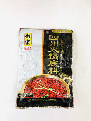 白家 四川火锅底料 BAIJIA Sichuan Flavor Hot Pot Seasoning 200g(7.05oz)