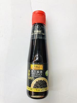李锦记 极纯黑芝麻油 LEE KUM KEE PURE BLACK SESAME OIL 7 fl oz (207ml)