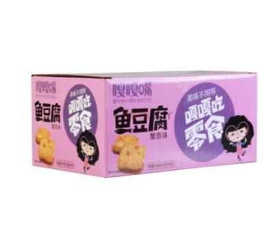嘎嘎嘴 鱼豆腐蟹香味 20bag Surimi (artificial) bean product 20bag*22g 440g