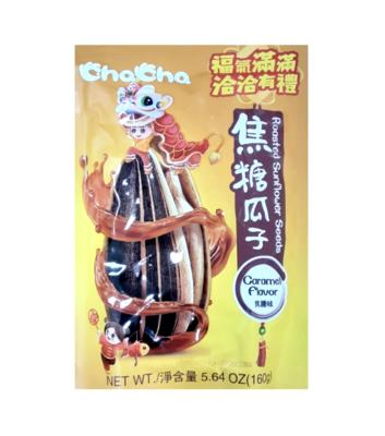 恰恰 焦糖瓜子 焦糖味 ~160g(5.64oz) ChaCha Roasted Sunflower Seeds Caramel Flavor 160g(5.64oz)