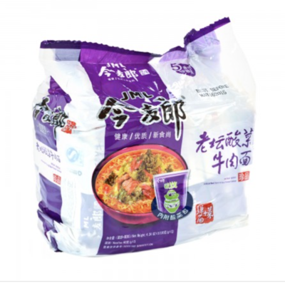 今麦郎 老坛酸菜牛肉面 五连包 JML INSTANT NOODLE hot and sour beef noodles 600g