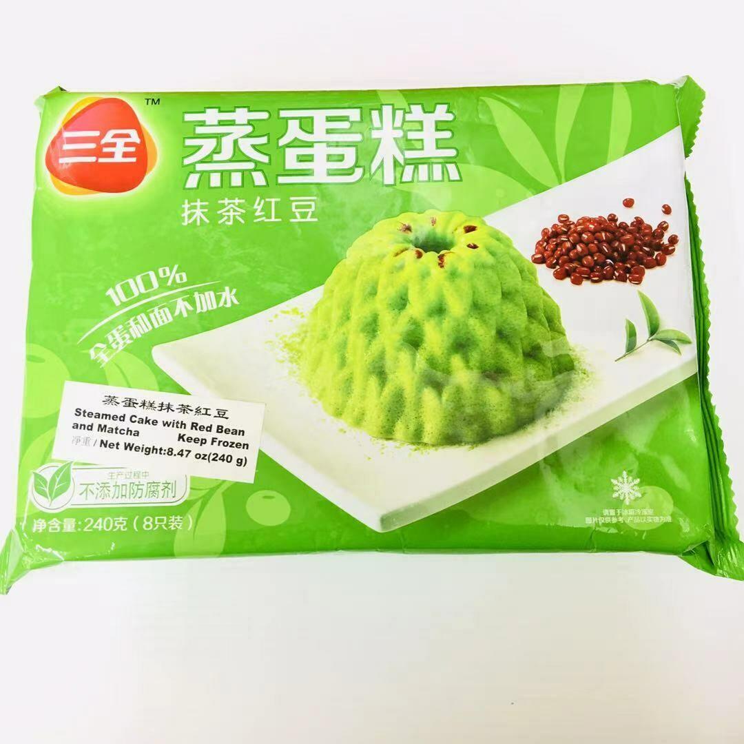 FZ【冷冻】三全 蒸蛋糕 抹茶红豆 240g