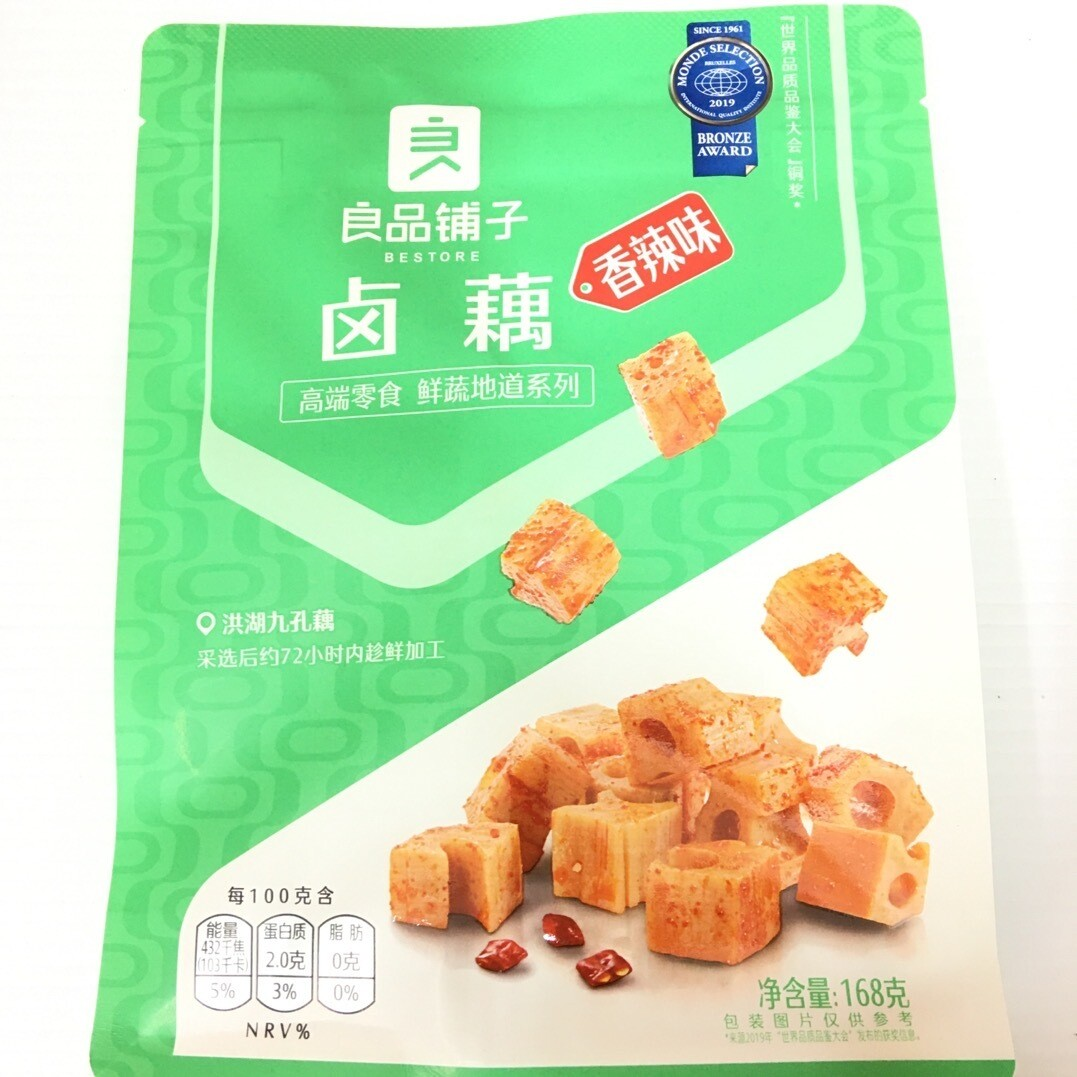 GROC【杂货】良品铺子 卤藕 香辣味 168g