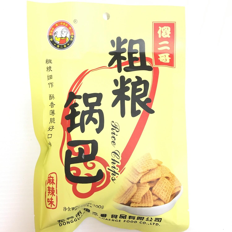 GROC【杂货】傻二哥 粗粮锅巴 麻辣味 100g