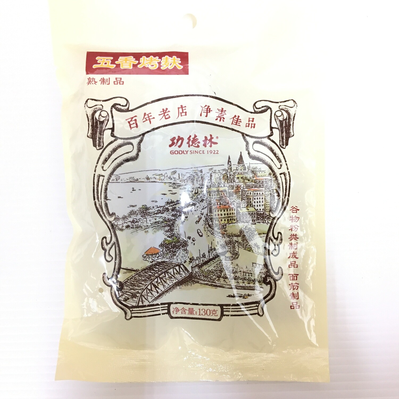 GROC【杂货】功德林 五香烤麸 130g