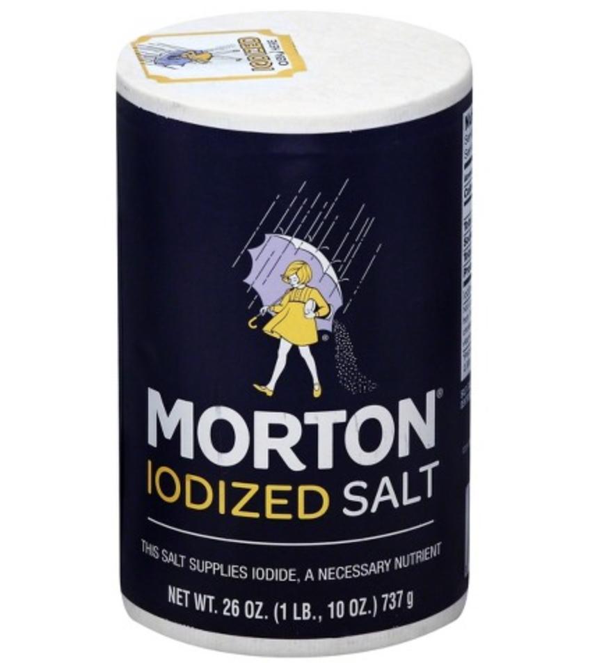伞牌加碘食用盐 MORTON IODIZED SALT 737g (26 oz)