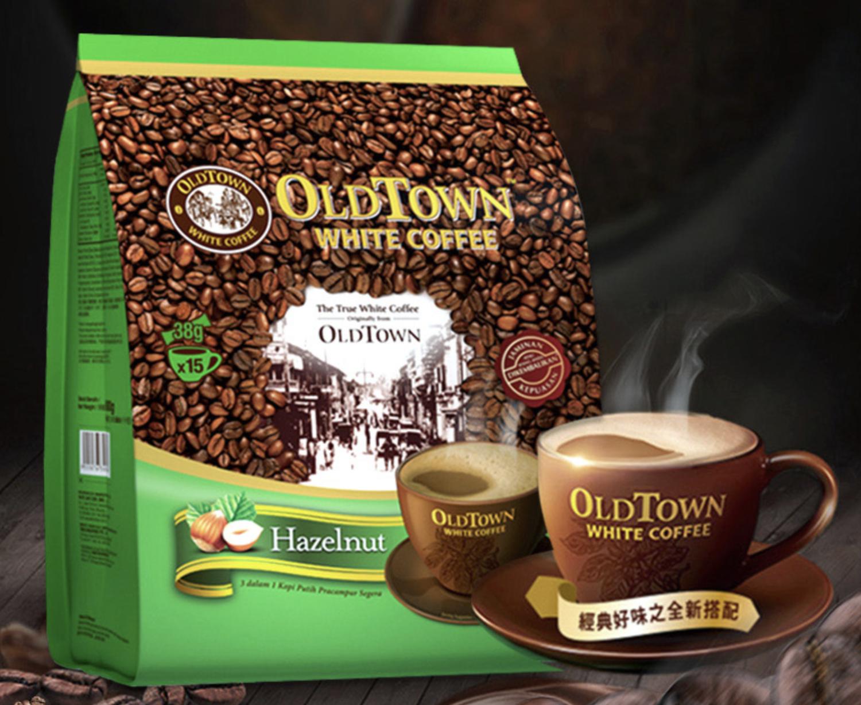 旧街场正宗白咖啡 榛果味 570g OLDTOWN WHITE COFFEE Hazelnut Flavoured 38g*15 stick packs