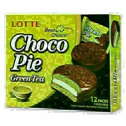 Lotte绿茶巧克力派 12pc LOTTE Choco Pie Green Tea