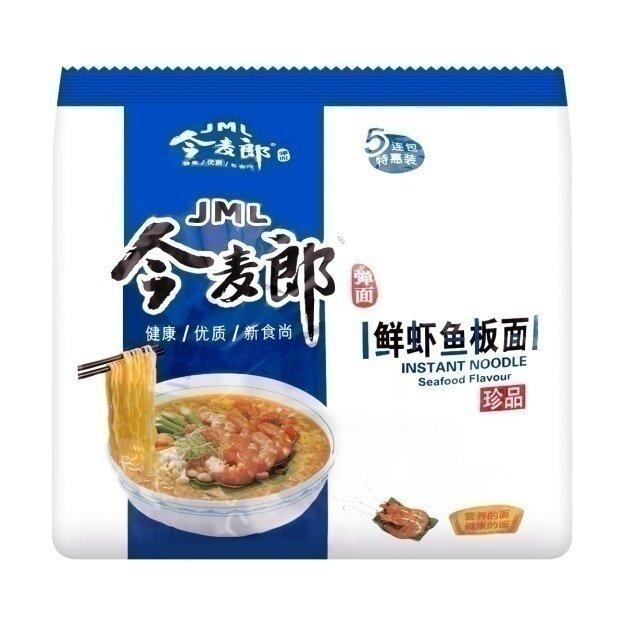 今麦郎 鲜虾鱼板面 五连包 JML INSTANT NOODLE Seafood Flavour 600g