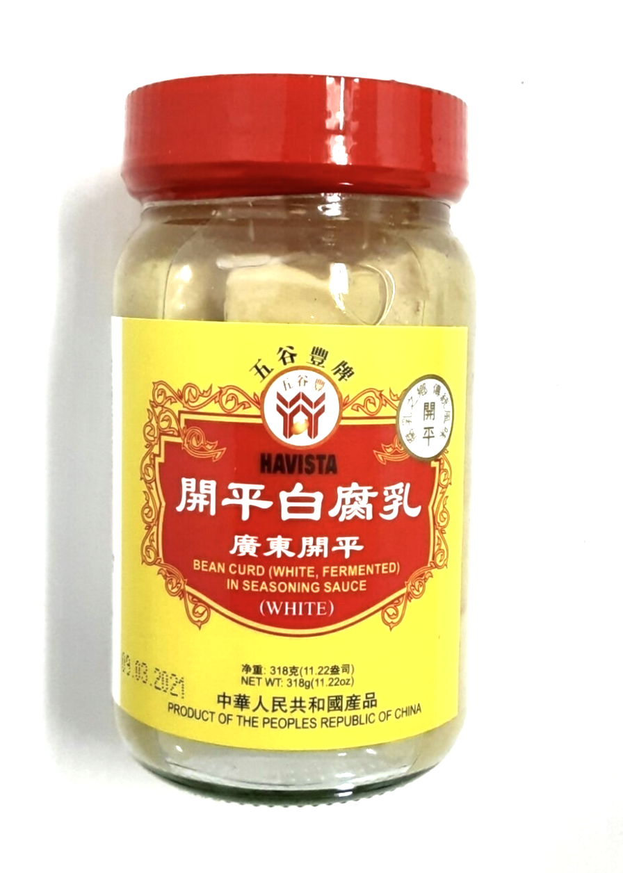 广东开平白腐乳 HAVISTA BEAN CURD (WHITE FERMENTED)IN SEASONING SAUCE (WHITE) 318g(11.22 oz)