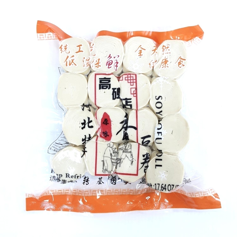 ❄高碑店香豆卷(原味),非转基因大豆制品 500g(17.6 oz) Soy Tofu Roll 500g(17.6 oz)