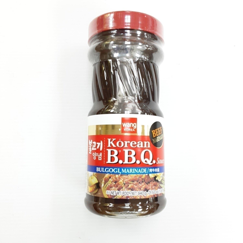 Wang 韩国烤牛肉酱 ~840g(29.63oz) WANG KOREA Korean B.B.Q Sauce BULGOGI, MARINADE 840g(29.63oz)
