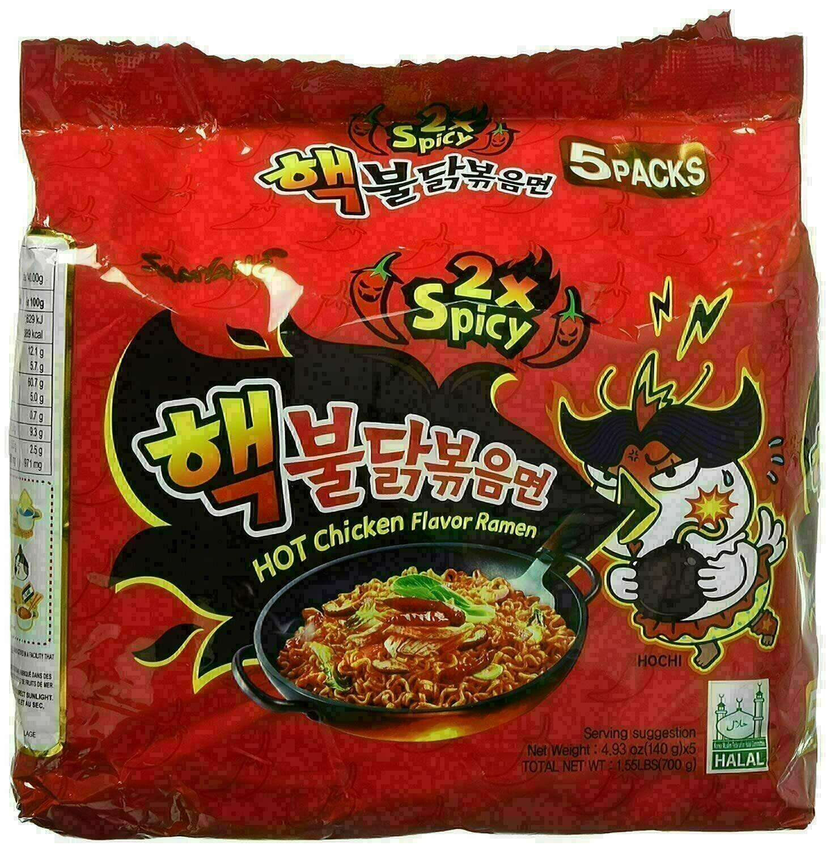 Hot Chicken Flavor Ramen - 2X Spicy ~700g(1.55lbs) Hot Chicken Flavor Ramen 700g (1.5lbs)