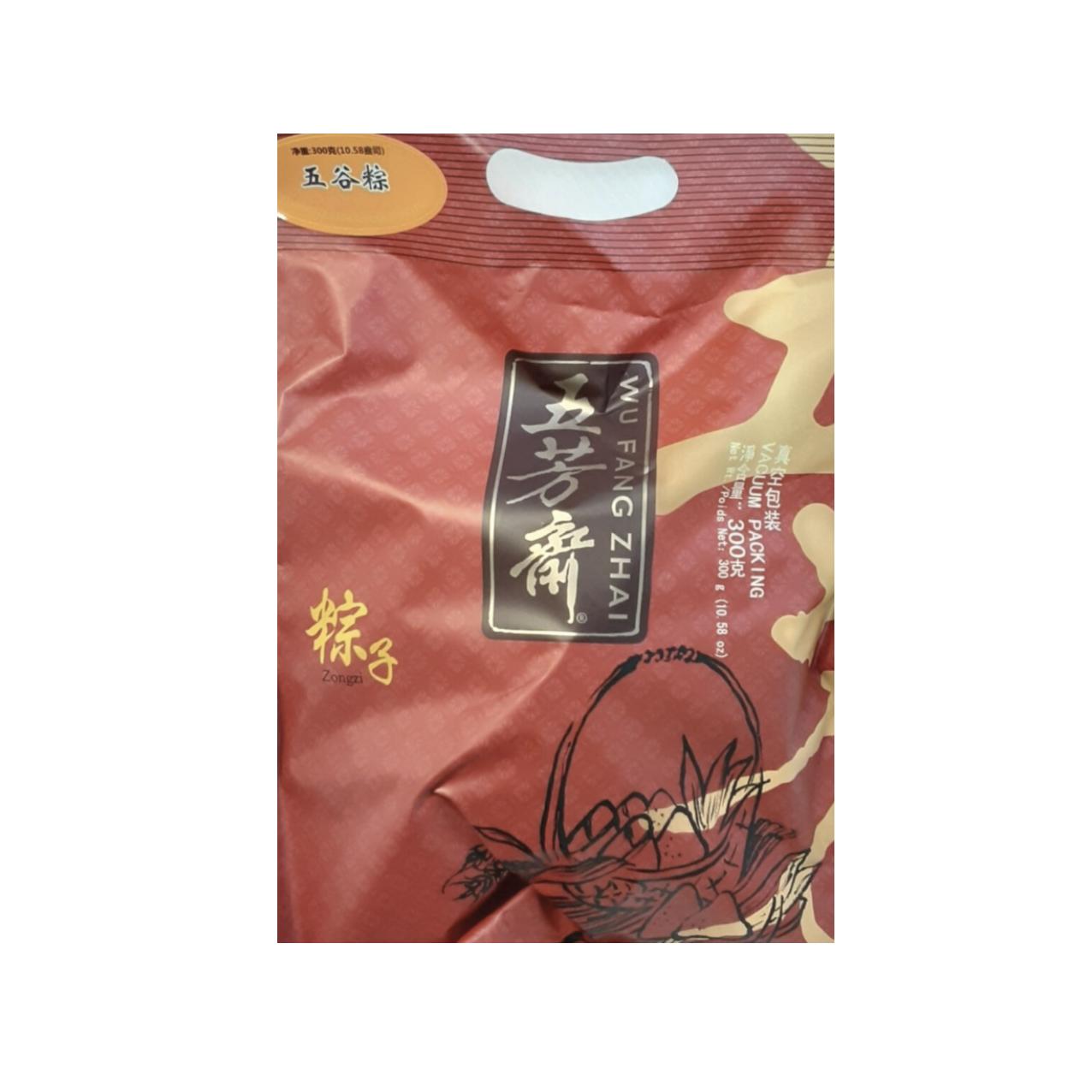 五芳斋 五谷粽 ~300g(10.58oz) WU FANG ZHAI ZONGZI (COOKED GLUTINOUS RICE DUMPLING) 300g(10.58oz)