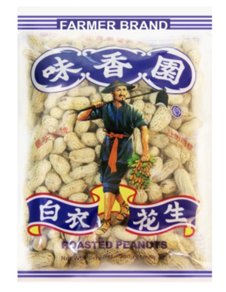 味香园 白衣花生 ~300g(10.58oz) Nan Ru Roasted Peanuts 300g(10.58oz)