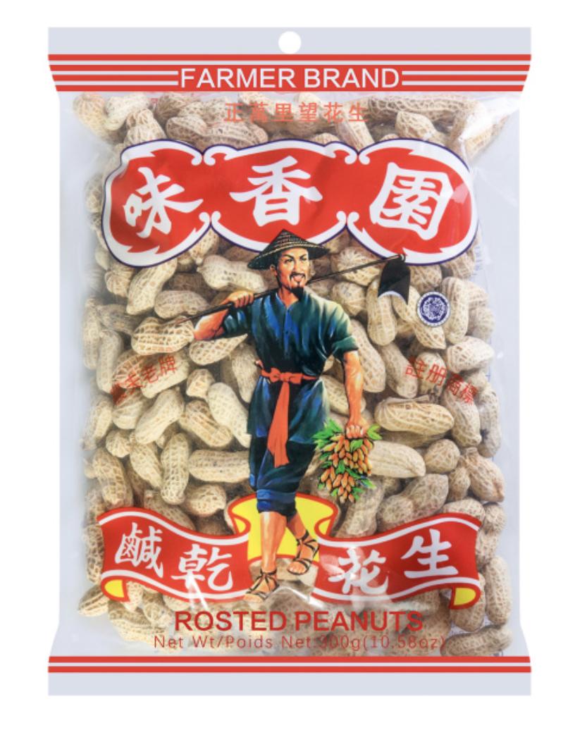 味香园 咸干花生 ~300g(10.58oz) Nan Ru Dried Peanuts 300g(10.58oz)