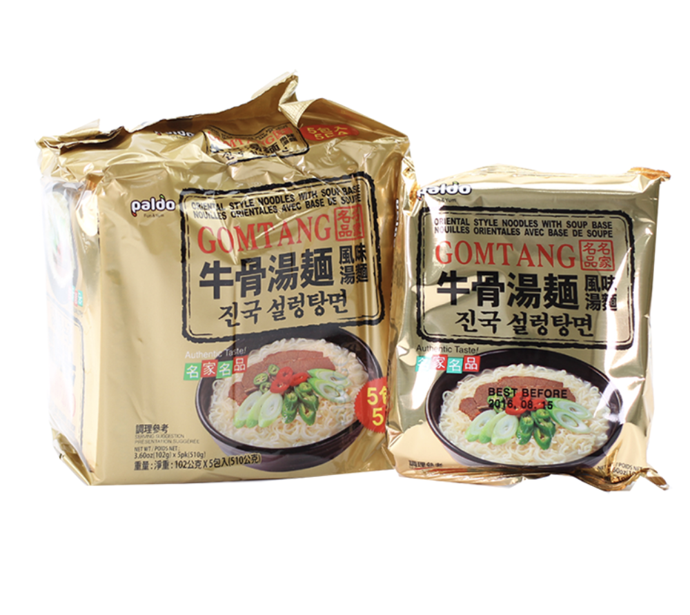 牛骨汤面 ~510g(17.99oz) GOMTANG KOREAN NOODLES WITH SOUP BASE 510g(17.99oz)