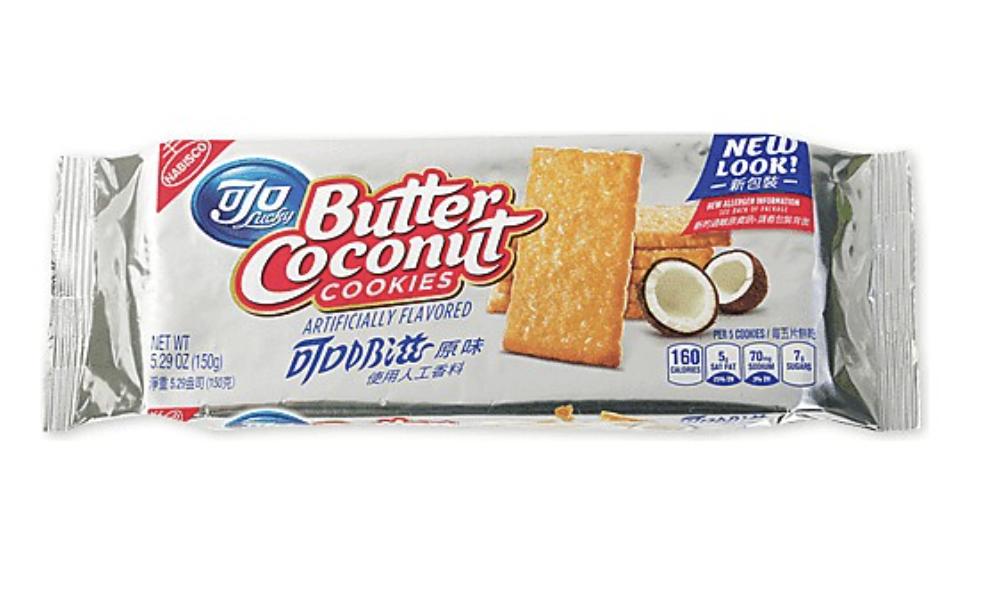 可口 可口奶滋 原味 Lucky Butter Coconut COOKIES ARTIFICIALLY FLAVORED ~150g