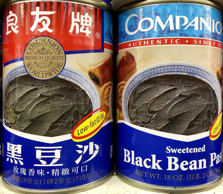 罐装良友牌黑豆沙Compnin Swetnd Black bean paste ~18oz (510g)