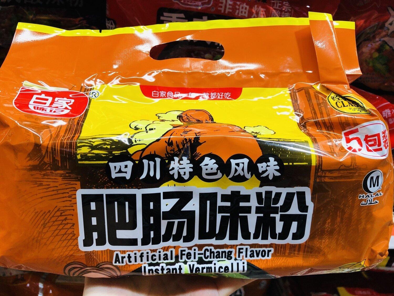 白家肥肠味粉丝 BaiJia Spicy FeiChang Flavor ~540g(108g*5,19.0oz)