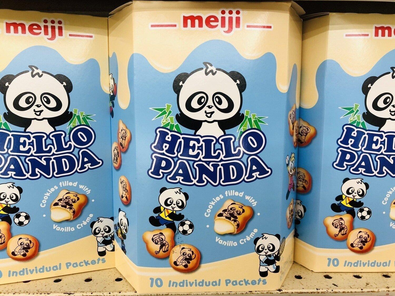 meiji熊仔饼香草奶味meiji HELLO PANDA Vanilla creme~9.1oz(258g)