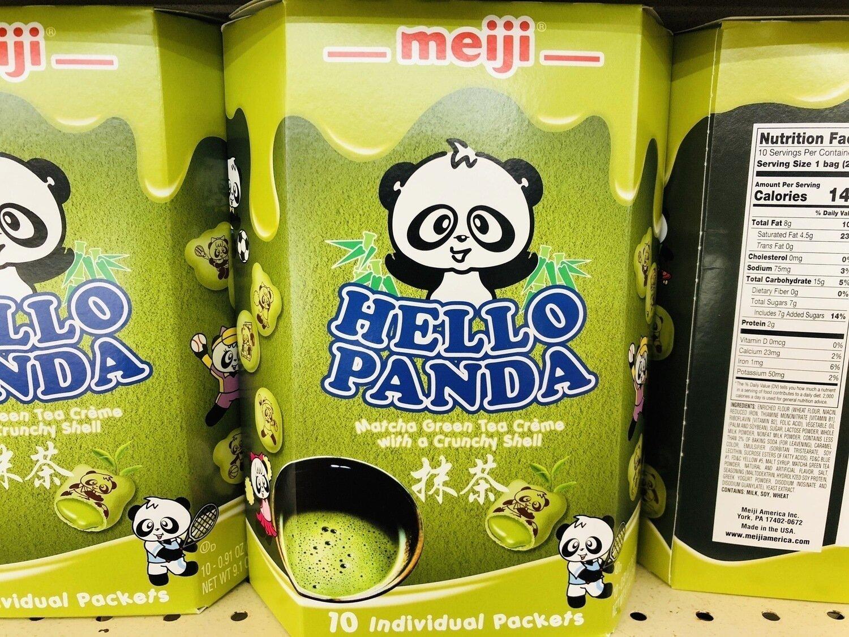 meiji熊仔饼抹茶味HELLO PANDA Matcha Green Tea Creme with a Crunchy Shell~9.1OZ(258)