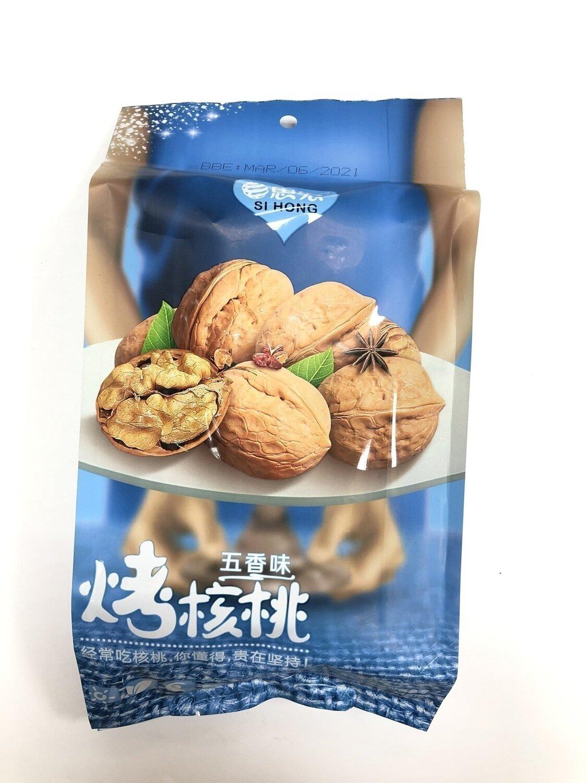 思宏五香味烤核桃 SIHONG Five Spice Roasted Walnuts~418g