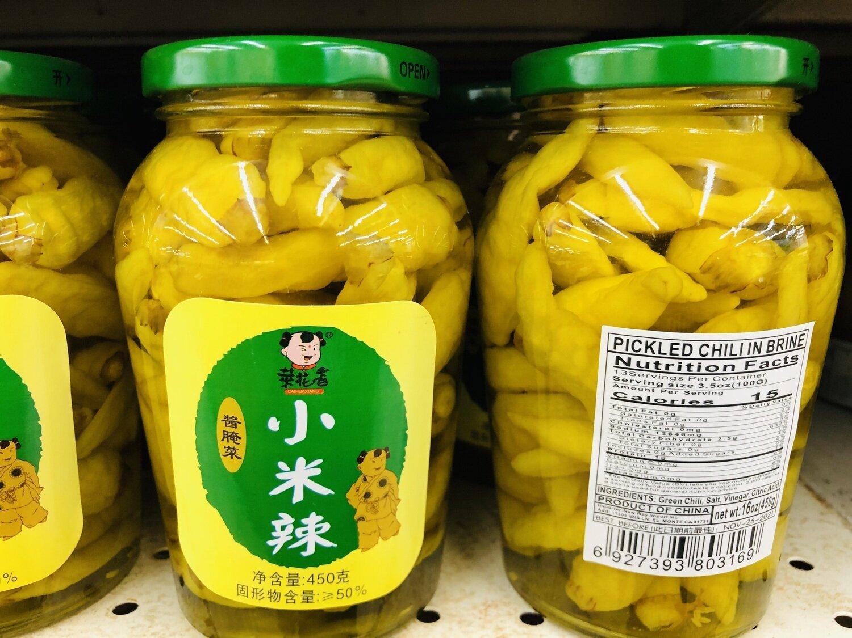 菜花香小米辣一罐 PICKLED CHILI IN BRINE~450G