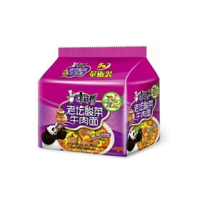 康师傅老坛酸菜牛肉面 ChefHon hot and sour beef noodles ~450g