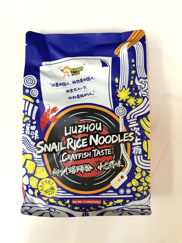柳州螺狮粉小龙虾味 Happy Snail LIUZHOU SNAIL RICE NOODLES(CRAYFISH TASTE)~11.29OZ