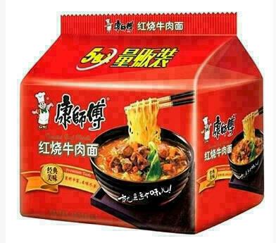 康师傅红烧牛肉面 Beef Flavor~545g