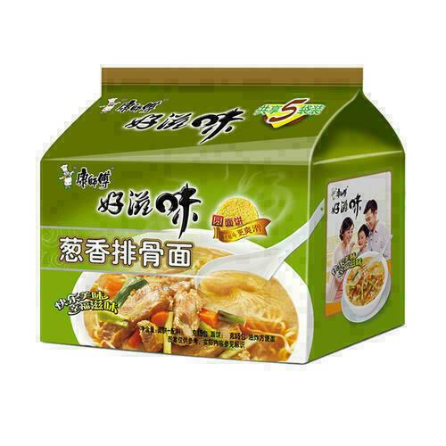 康师傅葱香排骨面 Pork Ribs Soup Flavor~545g