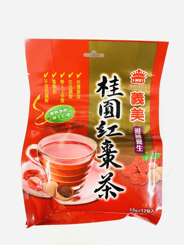 GROC【杂货】义美 桂圆红枣茶(全素) 180g(15gX12)