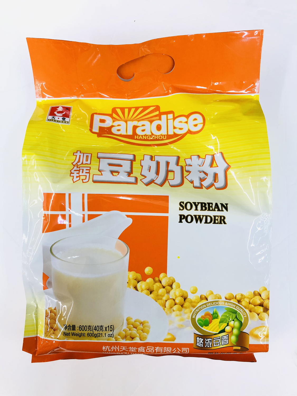 GROC【杂货】天堂 加钙豆奶粉 600g(40gX15)