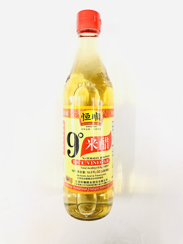 GROC【杂货】恒顺 9°米醋 16.9 FL OZ (500ML)