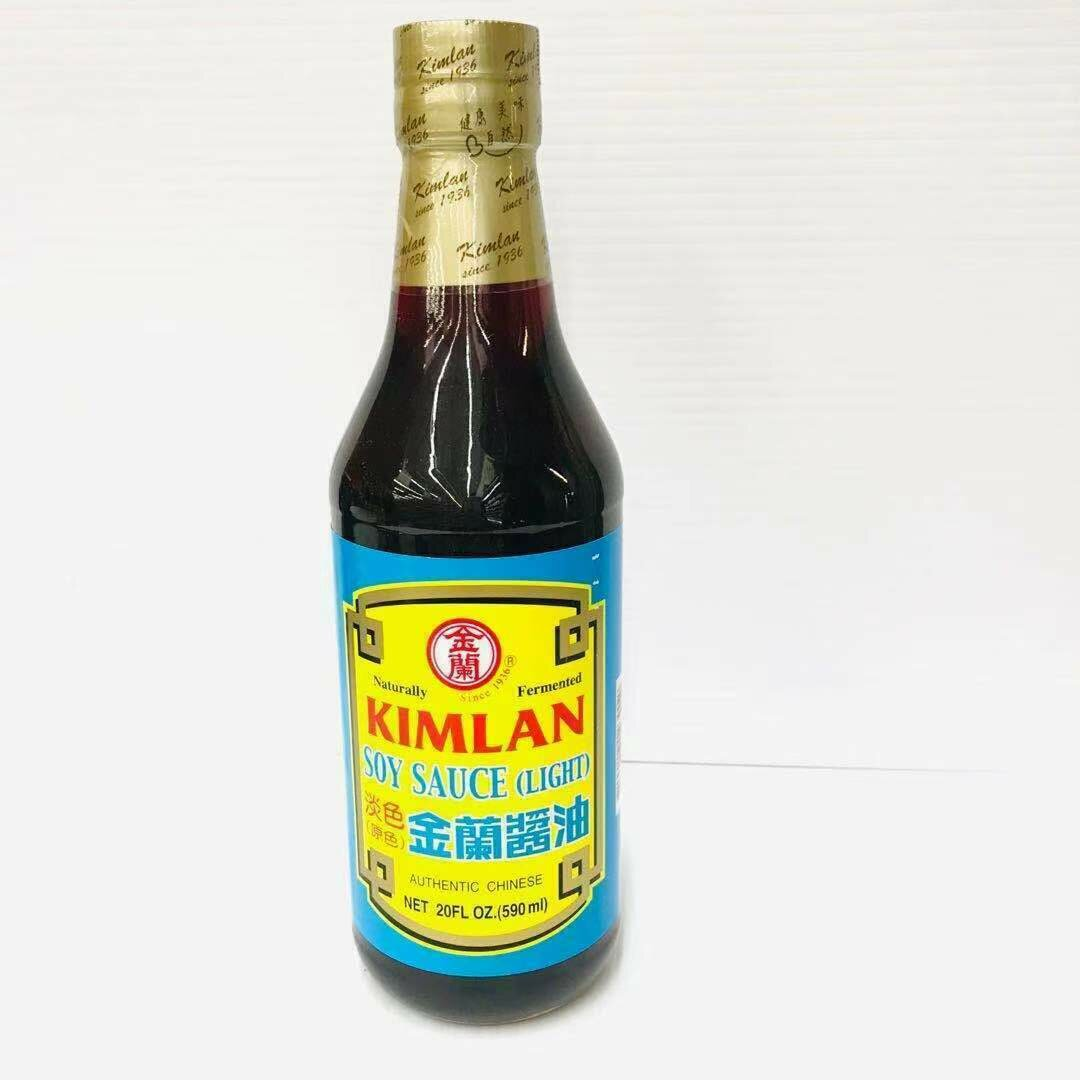 GROC【杂货】金兰 淡色(原色)酱油 20FL OZ (590ml)