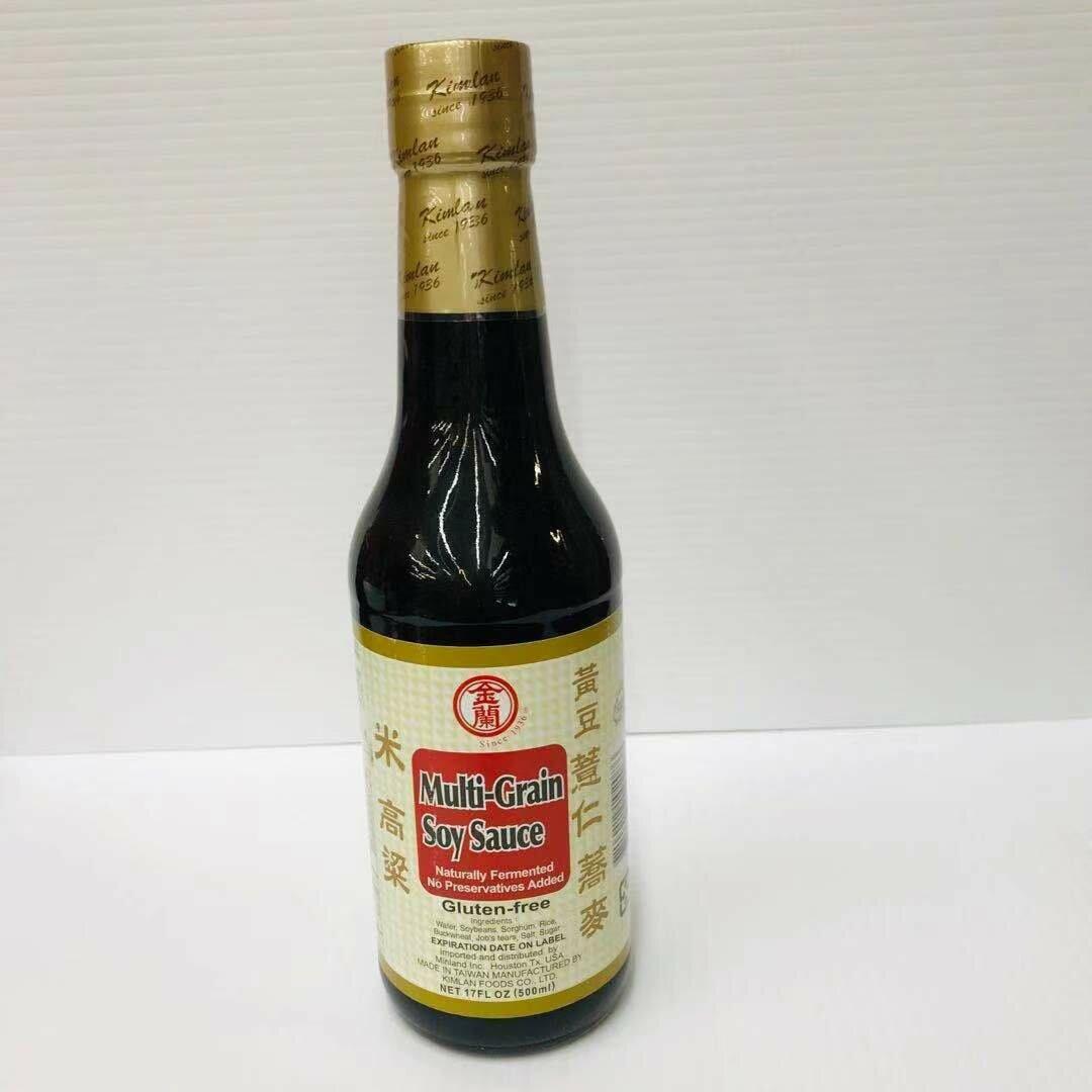 GROC【杂货】金兰 五谷酱油(无麸质) 17FL OZ (500ml)