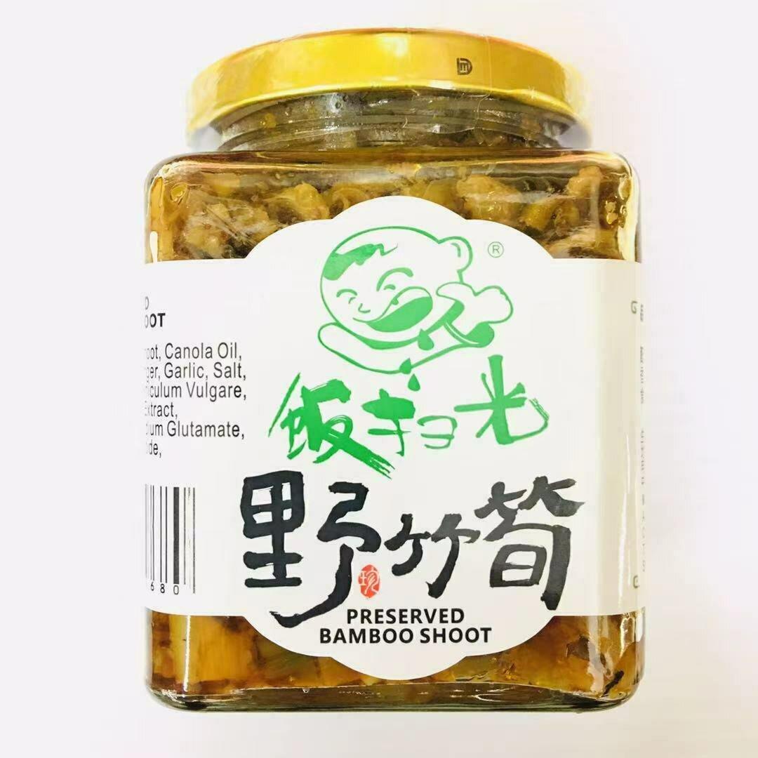 GROC【杂货】饭扫光 野竹筍 380g