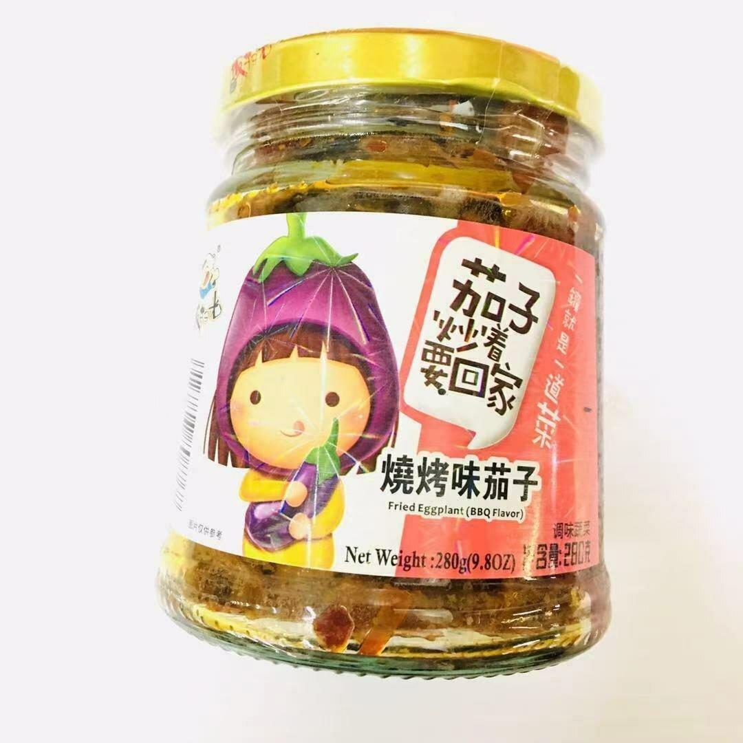 GROC【杂货】饭扫光 烧烤味茄子 280g