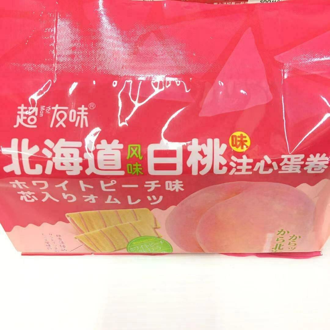 GROC【杂货】超友味 北海道风味白桃味注心蛋卷 258g