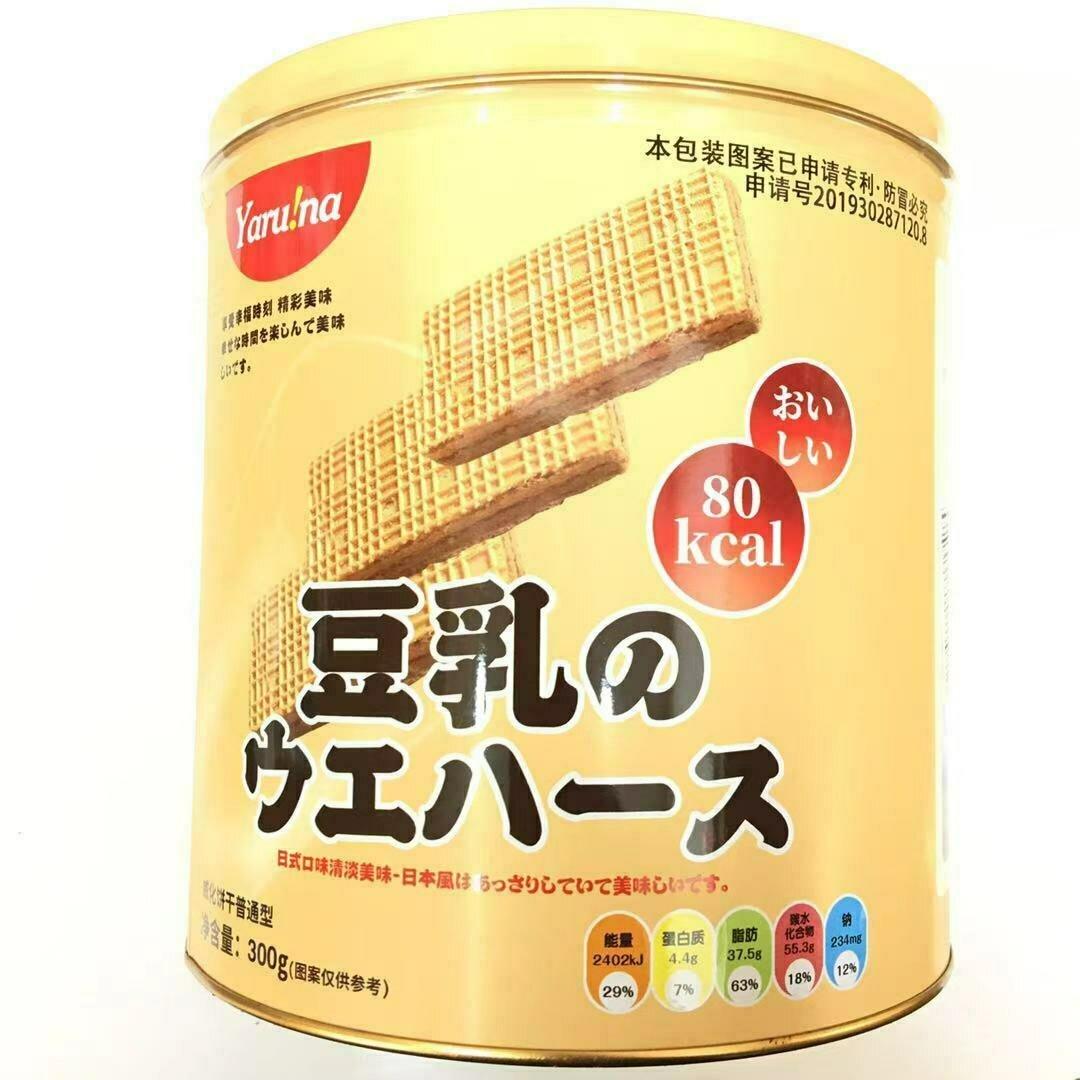 GROC【杂货】Yaru!na 豆乳威化饼干 300g