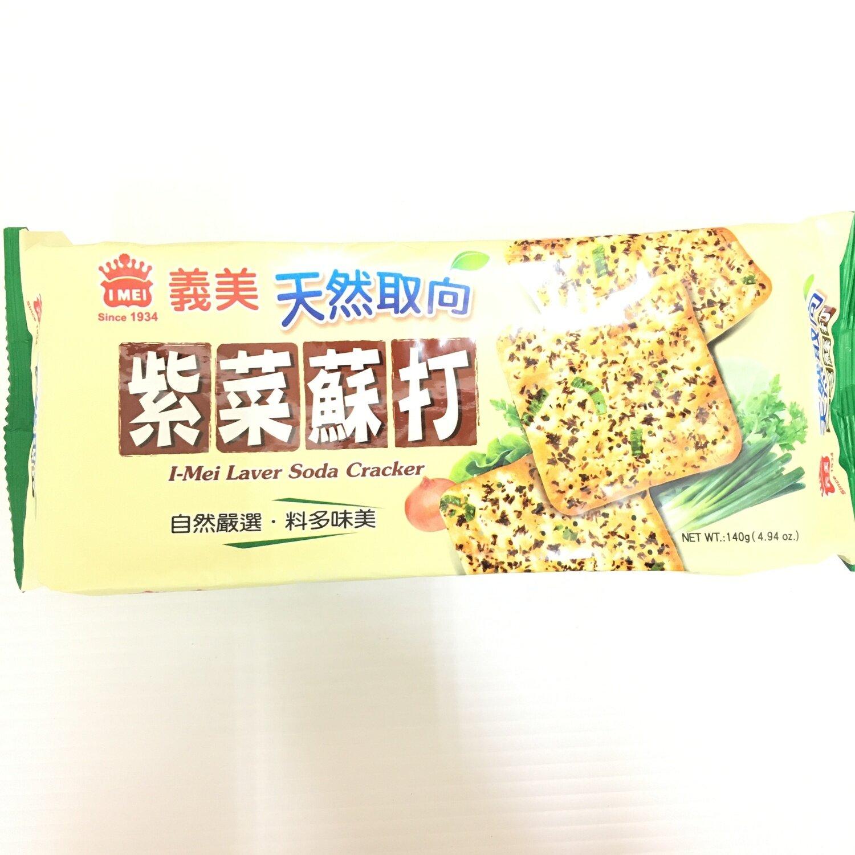 GROC【杂货】义美 紫菜苏打饼 140g