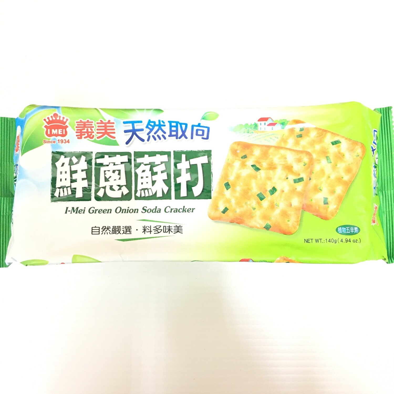 GROC【杂货】义美 鲜葱苏打饼 140g