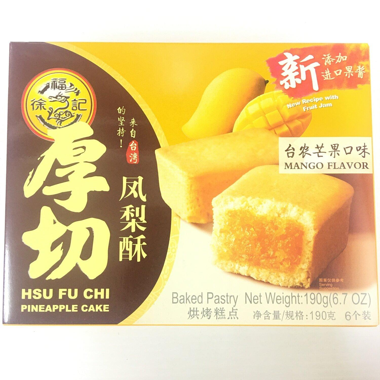 GROC【杂货】徐福记 厚切凤梨酥(台农芒果口味) 190g(6个装)
