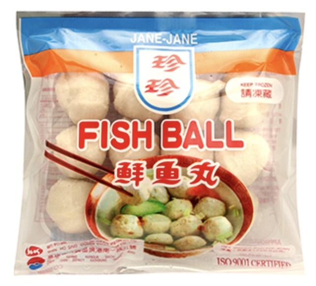 珍珍 鲜鱼丸 ~226.8g(8oz) JANE-JANE FISH BALL 226.8g(8oz)